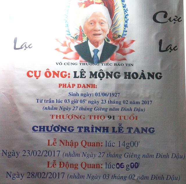 Cáo phó đạo diễn Lê Mộng Hoàng