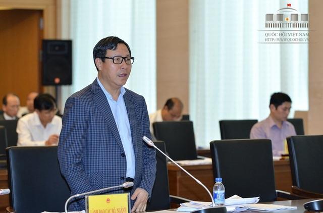 Thứ trưởng Bộ KH-ĐT Đặng Huy Đông tại phiên thảo luận.