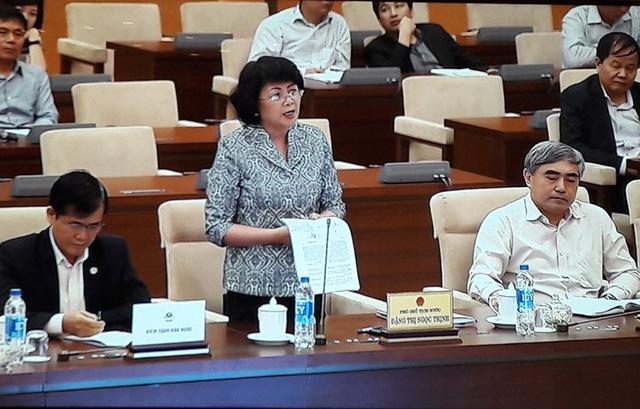 Phó Chủ tịch nước Đặng Thị Ngọc Thịnh phát biểu tại phiên họp của UB Thường vụ Quốc hội