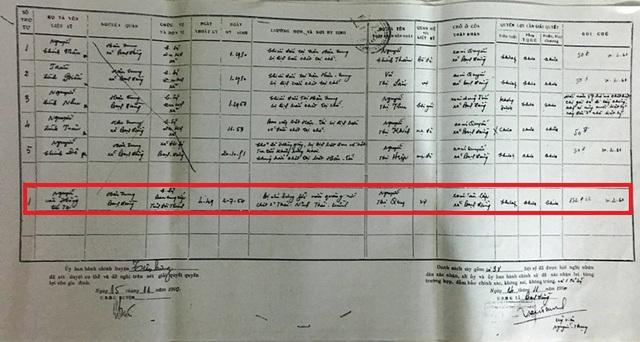 Trong danh sách liệt sỹ do UB hành chính Bạch Đằng lập ngày ngày 14/11/1960 thì các quyền lợi của quân nhân Nguyễn Văn Hồng vẫn chưa được giải quyết. Chỉ có phần Huân chương Chiến thắng hạng 3 do Đại tướng Võ Nguyễn Giáp vào ngày 27/7/1962.