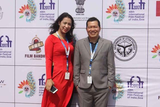 Đạo diễn Lương Đình Dũng tại LHP Quốc tế Ấn Độ lần thứ 48.