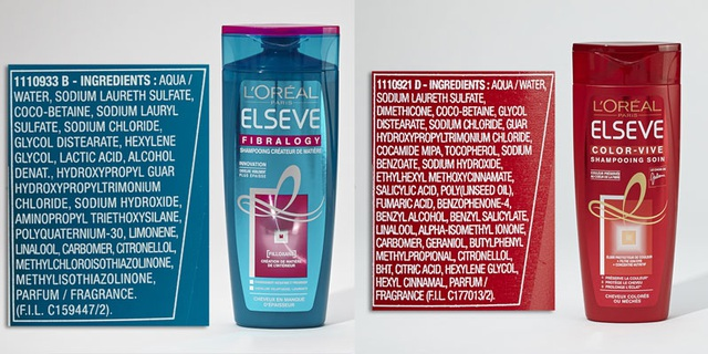 Dầu gội L Oréal có Sodium lauryl sulfate, Methylchloroisothiazolinone, Methylisothiazolinone và Ethylhexyl, methoxycinnamate, BHT
