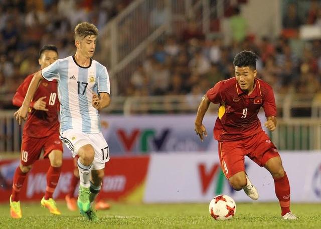 Đức Chinh từng ghi bàn vào lưới U20 Argentina