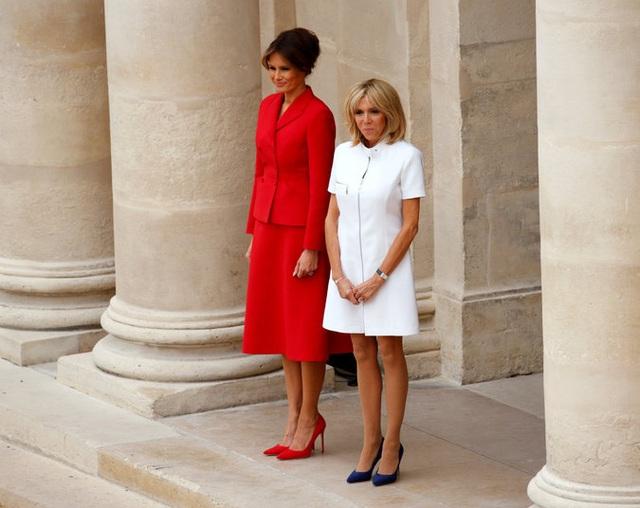 Hai đệ nhất phu nhân được ca ngợi bởi phong cách ăn mặc đẹp, thanh lịch (Ảnh: Reuters)