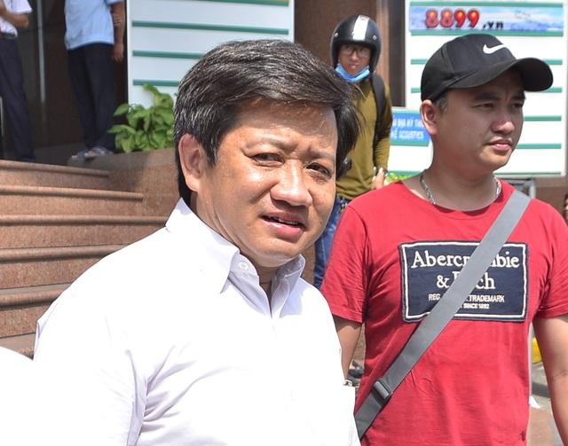 Ông Đoàn Ngọc Hải - Phó Chủ tịch quận 1 với nụ cười hiếm hoi trong lần ra quân dẹp vỉa hè