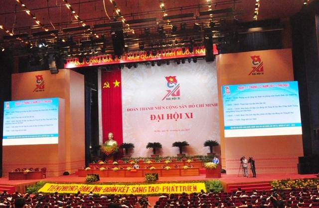 ĐH Đoàn toàn quốc lần thứ XI đã chính thức diễn ra tại Trung tâm hội nghị Quốc gia (Mỹ Đình, Hà Nội).