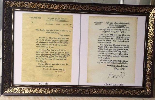 Bức Di thư được Bác viết vào năm 1946 gửi cho toàn thể đồng bào các dân tộc huyện vùng biên Quế Phong.