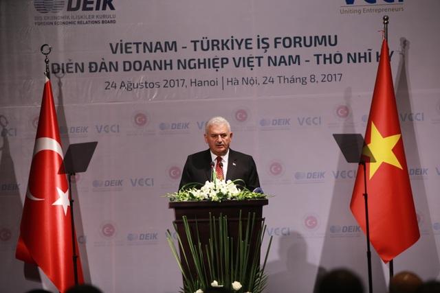 Thủ tướng Thổ Nhĩ Kỳ Binali Yıldırım khẳng định sự tin tưởng khi đầu tư vào Việt Nam