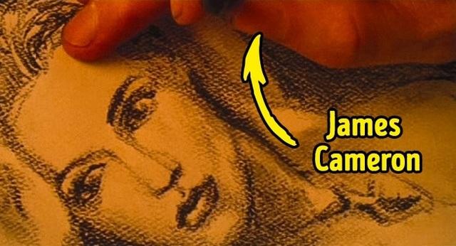 """Bức họa chân dung nàng Rose của chàng Jack trong bộ phim kinh điển """"Titanic"""" được chính tay vị đạo diễn lừng danh James Cameron vẽ nên. Ngoài ra, cũng bởi James Cameron là người thuận tay trái, nên tất cả các cảnh có chứa bức tranh trong Titanic đều được lật ngược lại."""