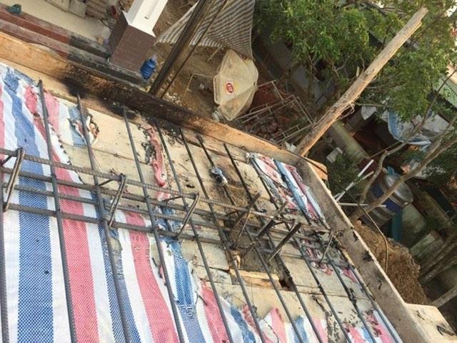 Hiện trường vụ chập điện khiến nạn nhân tử vong.
