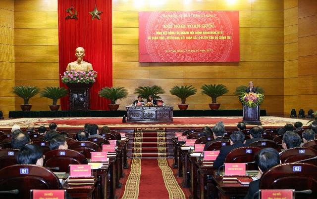Hội nghị tổng kết công tác ngành Nội chính Đảng diễn ra ngày 23/2 tại Hà Nội.