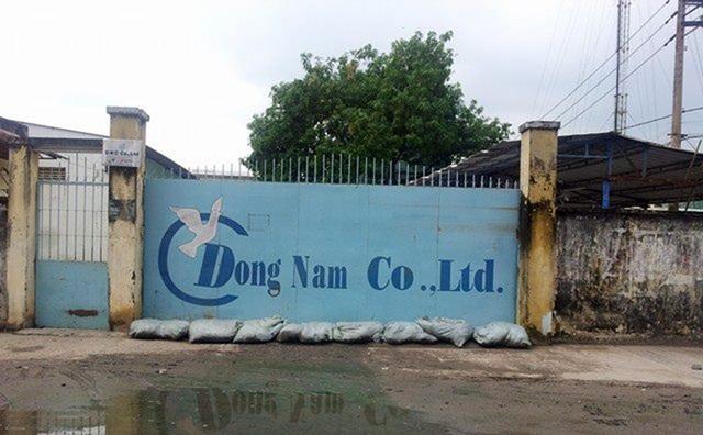 Nhà xưởng trên diện tích đất hơn 4.700m2 được Cty Đông Nam Việt Nam bị kê biên cưỡng chế.