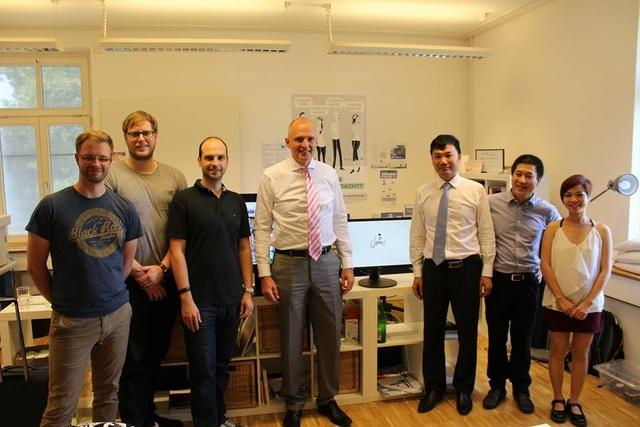 Đoàn công tác của Viện Đào tạo Quốc tế, Trường Đại học Kinh tế Quốc dân đến tham quan cơ sở vật chất hỗ trợ đổi mới sáng tạo và khởi nghiệp tại Đại học Koblenz-Landau, CHLB Đức.