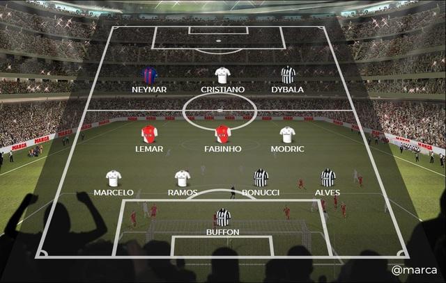 Đội hình tiêu biểu Champions League của tờ France Football