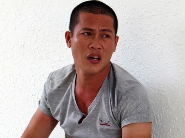 Đối tượng Biện Hoàng Khánh tại cơ quan điều tra.