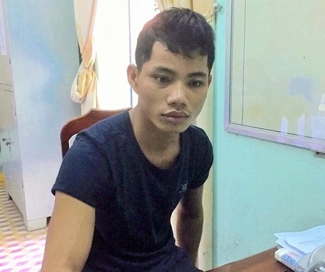 Trần Xuân Trung tại cơ quan công an