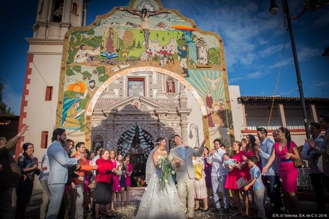 Cảnh đám cưới của Maria với Cristobal Cervantes trong Đơn giản tôi là Maria phiên bản mới. Ảnh: VTV.