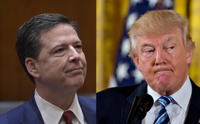 Tổng thống Mỹ Donald Trump (phải) và Giám đốc Cục điều tra liên bang Mỹ (FBI). (Ảnh: Getty)