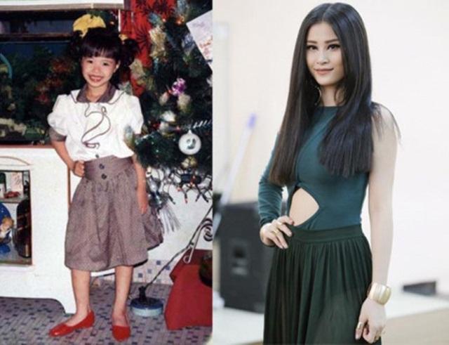 Khó lòng nhận ra bức hình bên trái là Đông Nhi nhiều năm về trước. Có thể thấy nữ ca sĩ đã hoàn thiện hơn về nhan sắc qua thời gian.