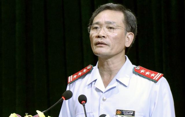 Ông Nguyễn An Huy - Phó Chánh Thanh tra TP Hà Nội, Trưởng đoàn thanh tra - đọc Dự thảo Kết luận thanh tra.