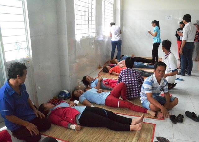 Sau khi được xuất viện về nhà, ngày 3/7 có 124 công nhân có chịu chứng nôn ối, đau bụng... nên phải nhập viện trở lại điều trị