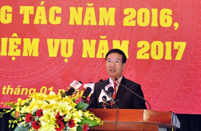 Ủy viên Bộ Chính trị, Trưởng ban Tuyên giáo Trung ương Võ Văn Thưởng phát biểu tại hội nghị