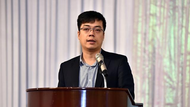 Ông Lê Anh Ngọc, Phó Trưởng phòng phụ trách phòng Quản lý chất lượng Thủy sản (Cục Quản lý Chất lượng Nông Lâm và Thủy sản – Bộ NN&PTNT) phát biểu tại Hội thảo.