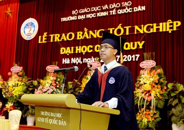 Tân cử nhân Nguyễn Tiến Thắng