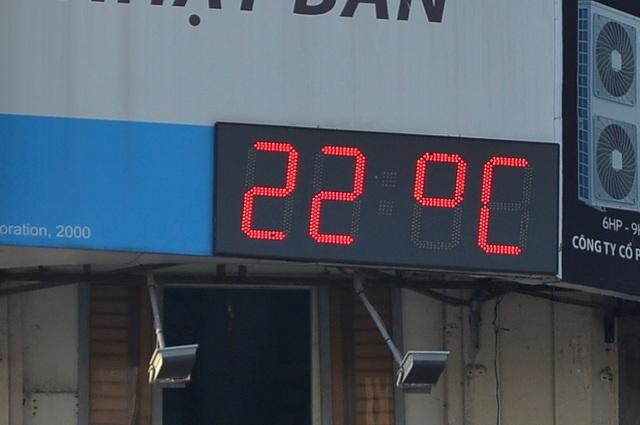 Nhiệt độ tại TPHCM lúc 7h sáng 28/1 là 22 độ C