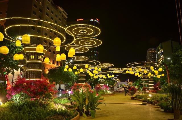 Đường hoa Nguyễn Huệ đẹp lung linh về đêm