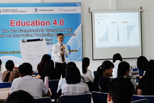 Hội thảo chủ đề giáo dục 4.0 từ yêu cầu của cuộc cách mạng công nghiệp 4.0 vừa diễn ra tại Đà Nẵng ngày 29/9