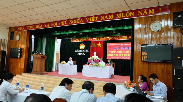 Đoàn ĐBQH TP Đà Nẵng tiếp xúc cử tri sáng 4/10