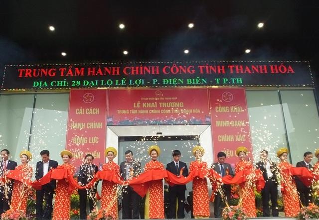 Văn phòng UBND tỉnh Thanh Hóa tổ chức lễ khai trương Trung tâm hành chính công