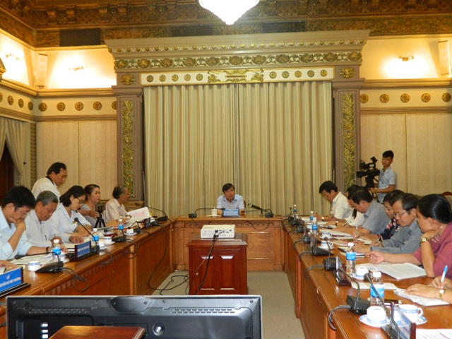 Chủ tịch UBND TP nghe các bên trình bày ý kiến về vụ việc của ông Giảng