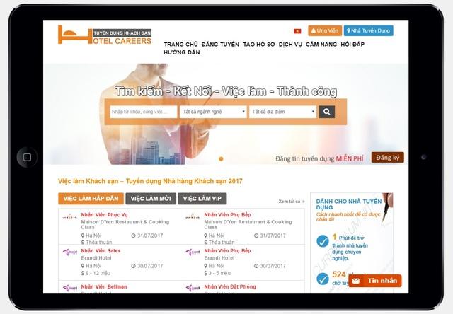 Thêm một  website việc làm kết nối ứng viên với nhà tuyển dụng du lịch khách sạn - 1