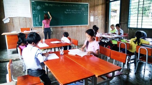 Một trường học ở Quảng Bình chưa đảm bảo cơ sở vật chất nhưng vẫn thực hiện mô hình VNEN