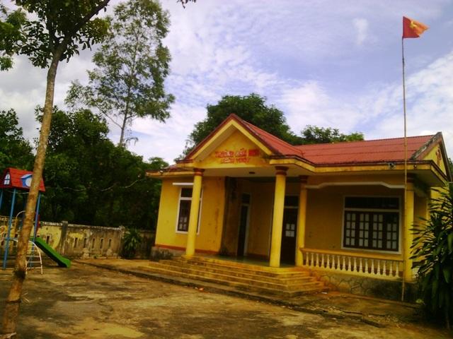 Trường Mầm non xã Ngân Thuỷ, huyện Lệ Thuỷ, tỉnh Quảng Bình, nơi bà Nguyễn Thị Xiêm và bà Phan Thị Giang từng công tác