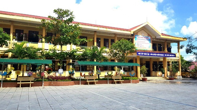 Trường Tiểu học số 2 Nam Lý, nơi xảy ra nhiều khoản thu trái với quy định