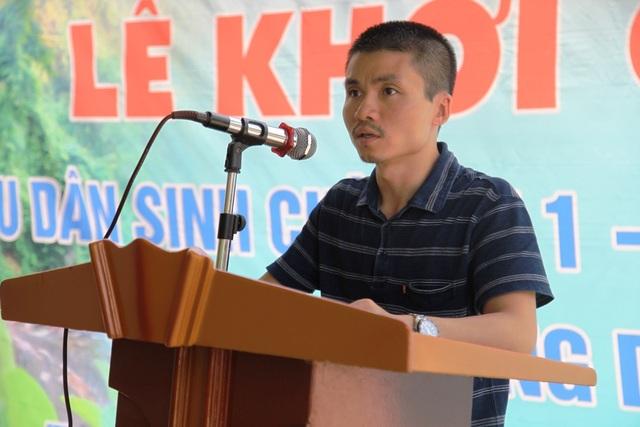Ông Phạm Tuấn Anh - Phó Tổng biên tập Báo điện tử Dân trí phát biểu tại lễ khởi công cầu mang tên Dân trí.