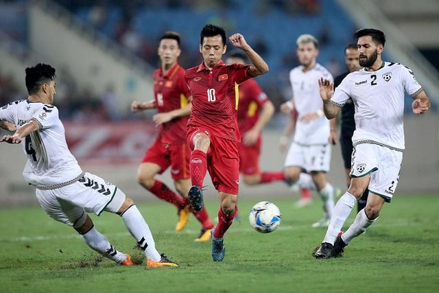 Đội tuyển Việt Nam có trận đấu không hề dễ dàng trước Afghanistan (ảnh: Gia Hưng)