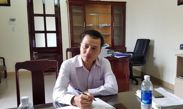 Ông Nguyễn Thanh Tuấn Anh, Giám đốc Ban quản lý dự án Cải thiện môi trường nước TP Huế trả lời các câu hỏi của PV