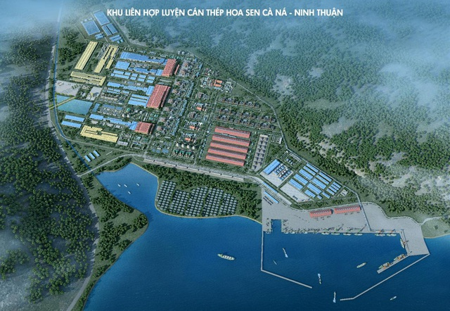 Hình ảnh 3D dự án Khu liên hợp luyện cán thép Cà Ná – Ninh Thuận
