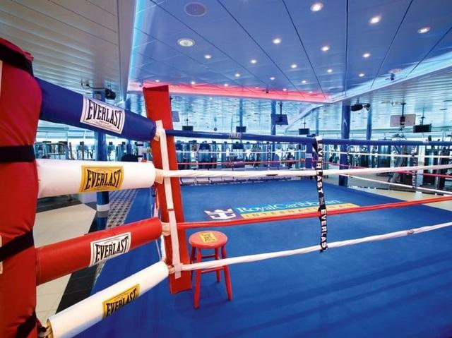 Phòng tập Gym được tích hợp sàn boxing.