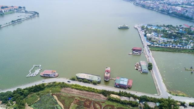 Vị trí tập kết toàn bộ phương tiện thủy nội địa là Đầm Bảy (phường Nhật Tân).