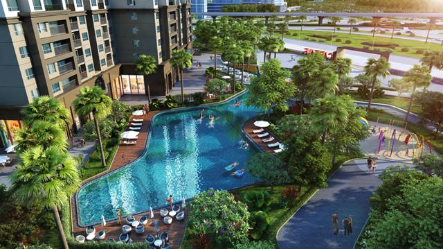 SOHO tại D'.Capitale được quy hoạch riêng trong một tòa tháp trong tổng thể 6 tòa tháp của dự án, cùng sử dụng chung hơn 40 tiện ích thời thượng như bể bơi, sân tập ngoài trời, các tiểu cảnh đẹp mắt…