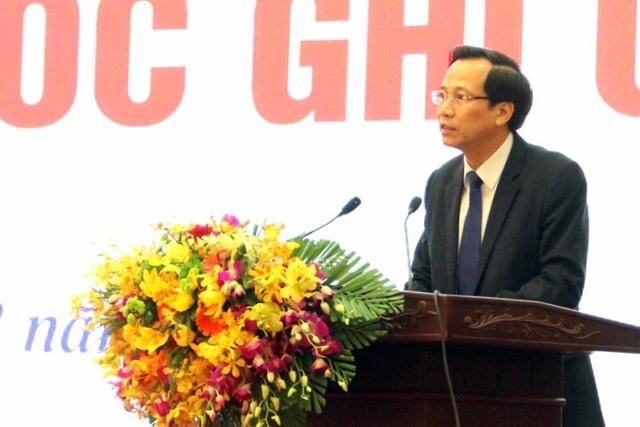 Bộ trưởng Đào Ngọc Dung phát biểu tại buổi lễ