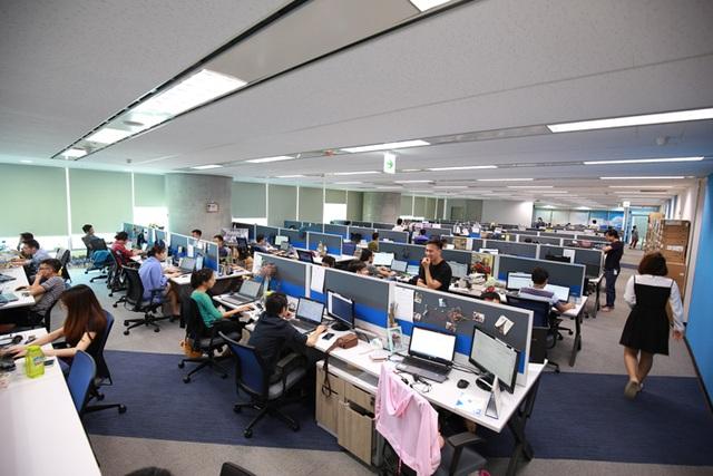 Một góc làm việc tại văn phòng Tek Experts Việt Nam