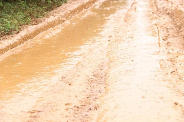Nhiều trường hợp bị ngã cả người lẫn xe xuống bùn lầy