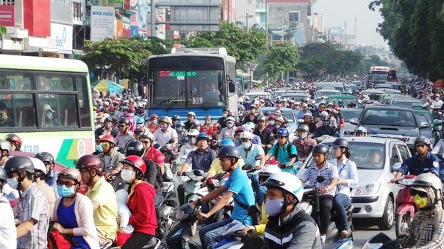 Kẹt xe là nỗi ám ảnh của người dân TPHCM