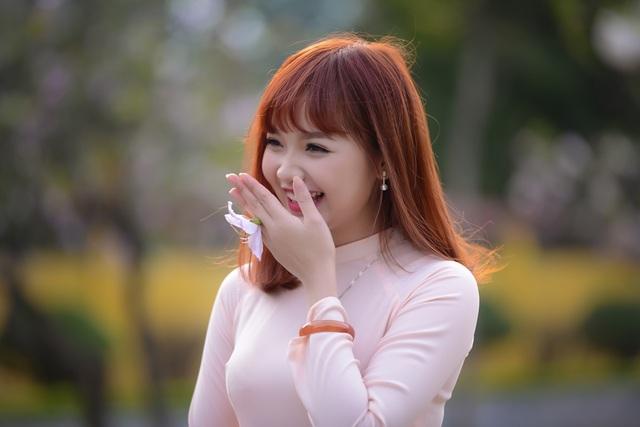 Nữ sinh Hà thành dịu dàng trong sắc hoa ban - 15